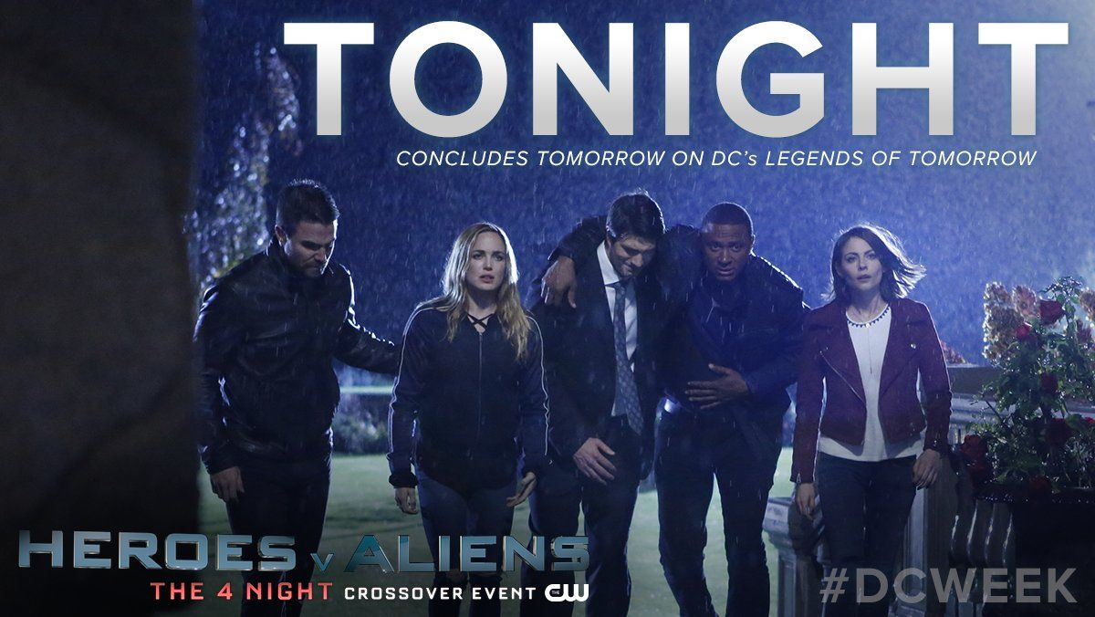 #DCWeek's 4 night crossover event continues with the 100th episode of #Arrow , TONIGHT at 8/7c  on The CW!