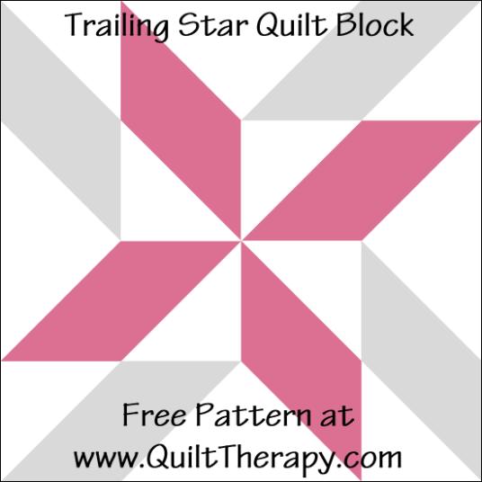 Star Power: Trailing Star Quilt Block & Trailing Star Variation Quilt Block – Quilt Therapy #starquiltblocks