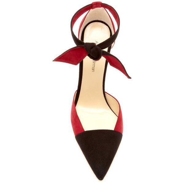 alexandre birman ladylike suede pumps with knotted ankle strap escarpin pinterest pour. Black Bedroom Furniture Sets. Home Design Ideas