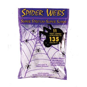 White Spider Web Adult Halloween Accessory