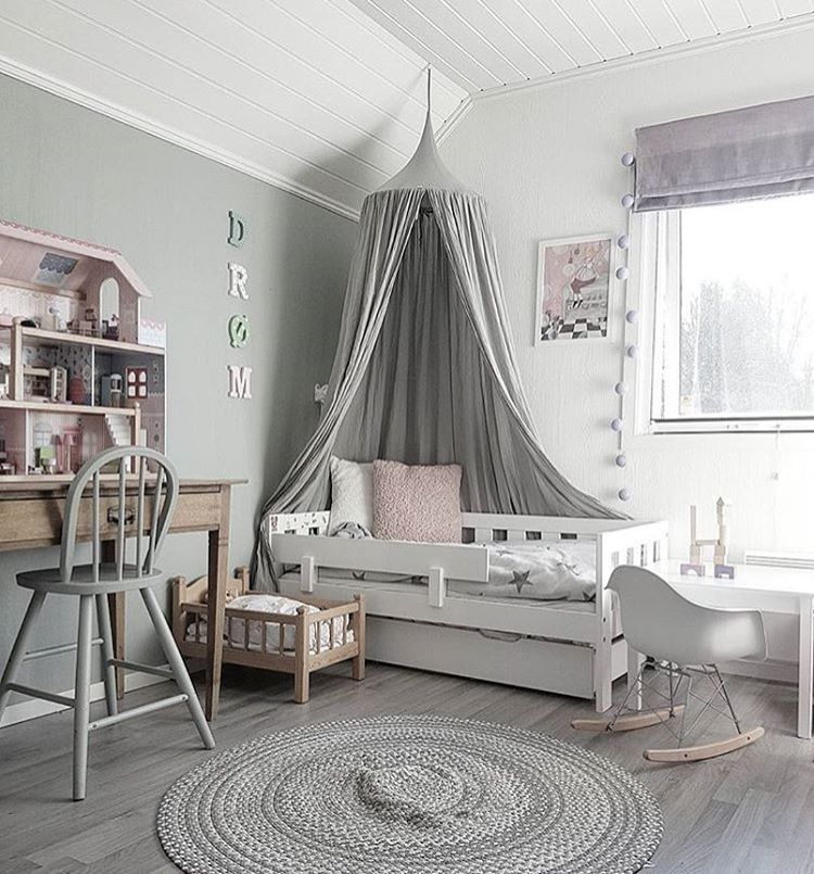 Grey Kids Room: Muted Gray Design In This Modern Toddler Room