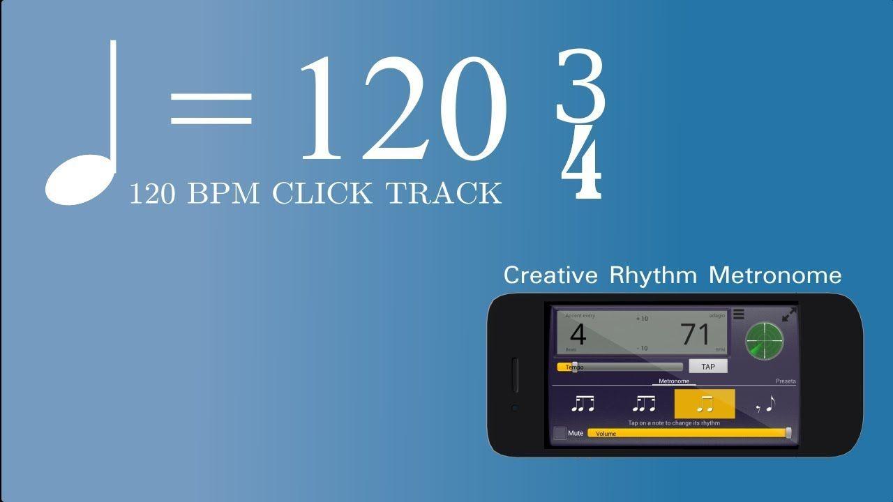 120 BPM 3/4 Metronome Click track featuring Creative Rhythm