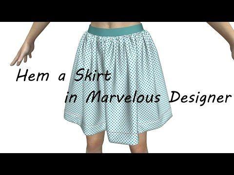 a736e728 How to Hem a Skirt in Marvelous Designer - YouTube | Marvelous ...