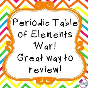 Periodic table of war game atomic number periodic table and students just like the card game war but instead with the elements on the periodic table urtaz Gallery