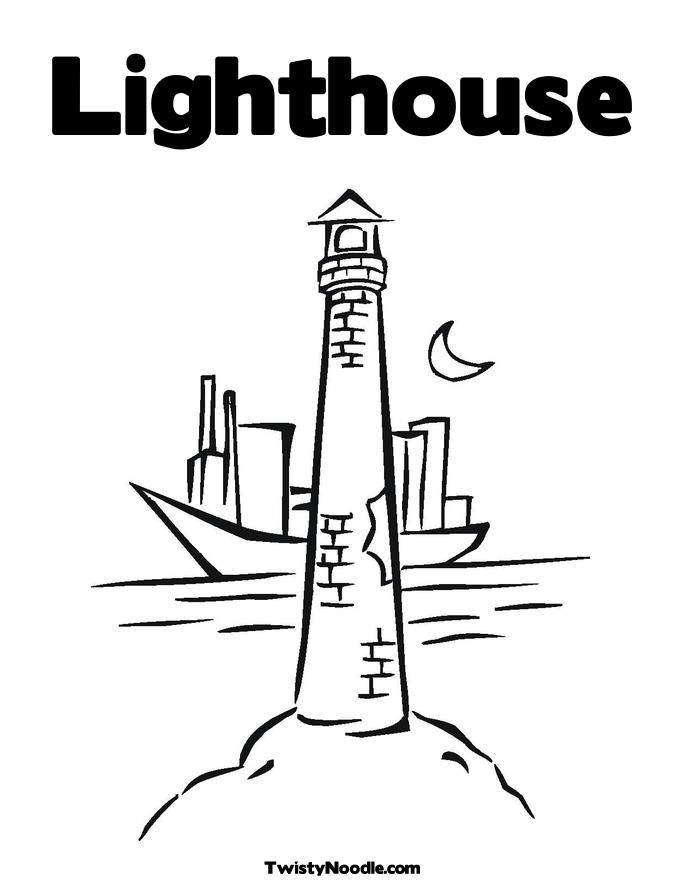 Lighthouse Coloring Page Free | Para colorear | Pinterest ...