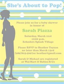 About to Pop Shower Invitation