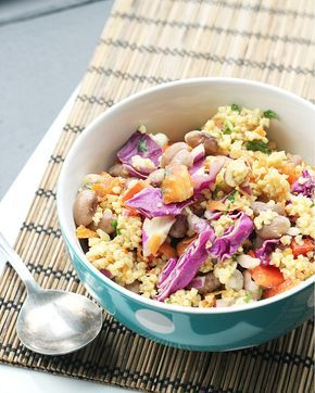 Thai Millet Salad with Peanut-Ginger Dressing via Eats Well with Others #recipe