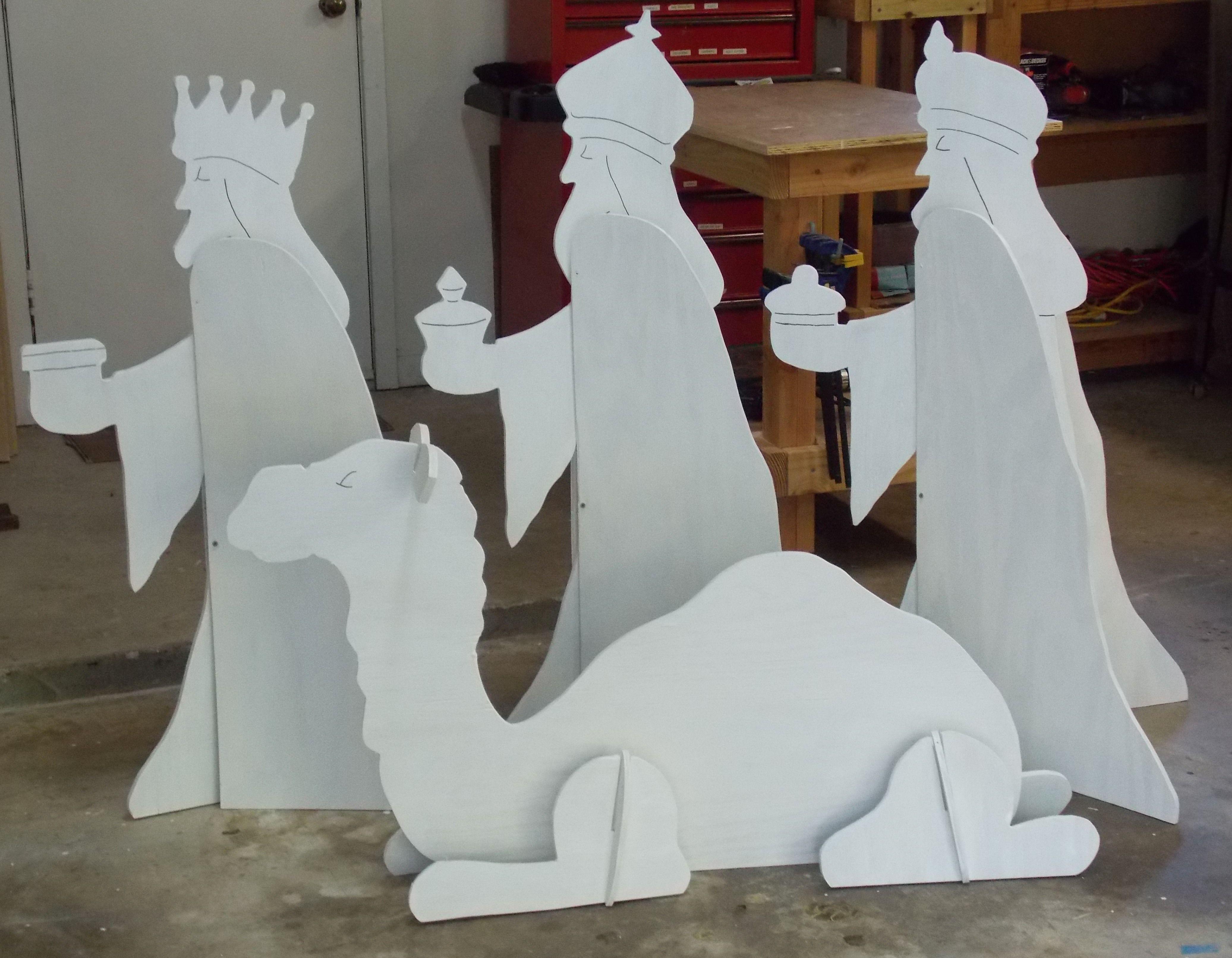 Outdoor nativity set phase wood working pinterest