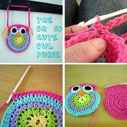 Free Crochet Owl Purse Pattern Crochet Pinterest Crochet Owl