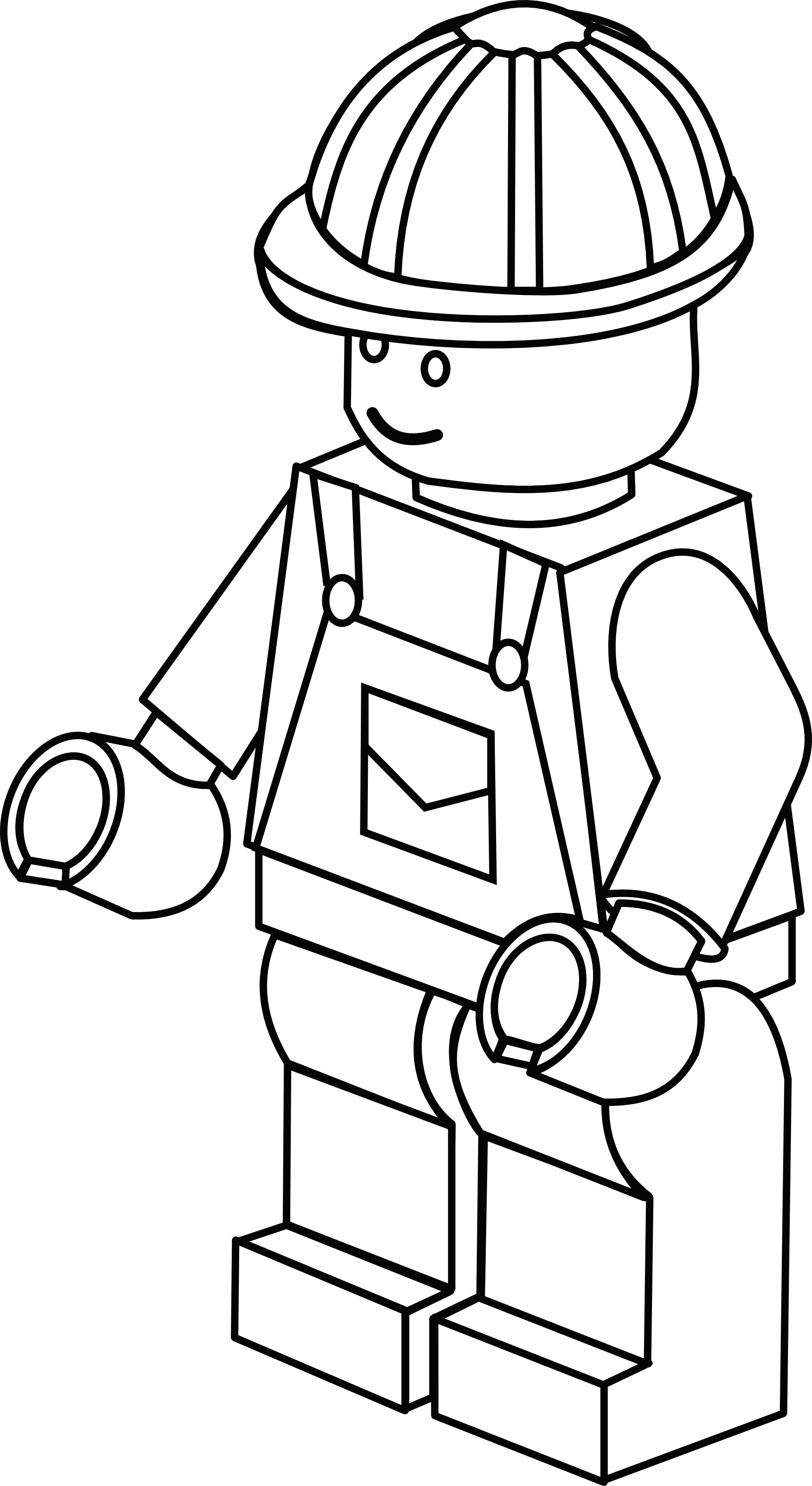 More complex LEGO figure colouring sheet Lego coloring