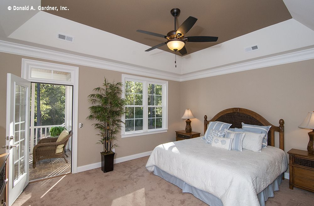 A Tray Ceiling Frames This Master Bedroom The Lennon 1300