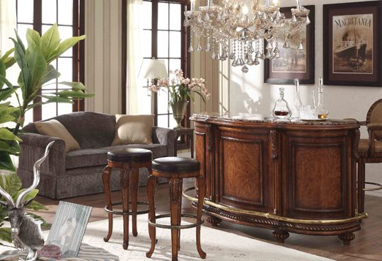 Free Standing Home Bars With Granite Top Cabinet Finish