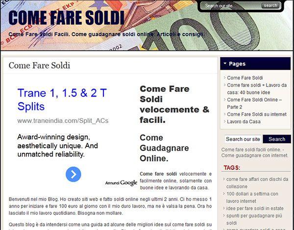 fare soldi col web