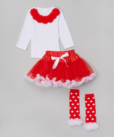 32b55e06ebfe This Red   White Pettiskirt Set - Infant