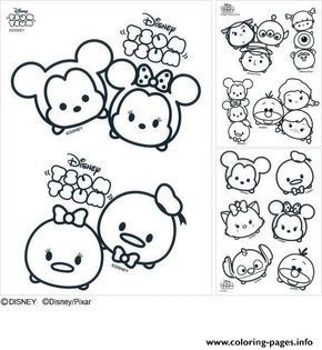 Print Disney Tsum Tsum Coloring Pages ツムツム Tsum Tsum