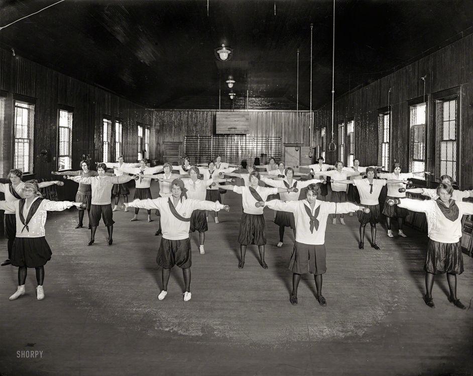 "Takoma Park, Maryland, circa 1928. ""Washington Sanitarium gymnasium."""