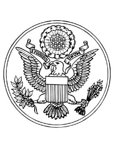 Coloring Page State Seal Patriotic Symbols History Worksheets