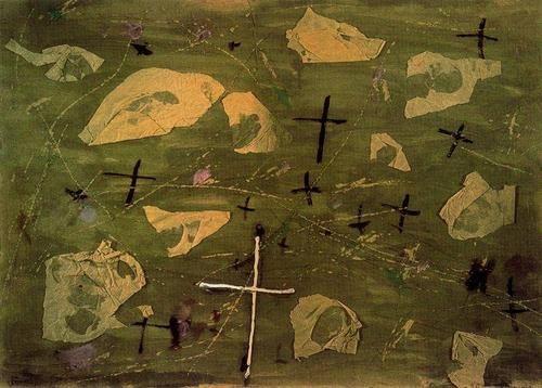 Antoni Tapies, Collage of the Crosses, 1947