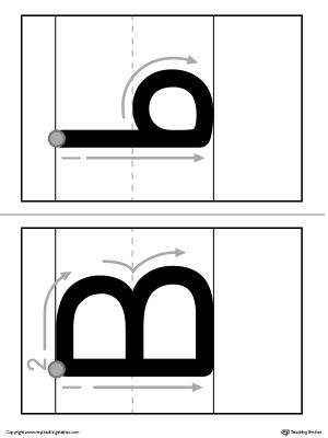 alphabet letter b formation card printable alphabet letters worksheets and printable worksheets. Black Bedroom Furniture Sets. Home Design Ideas