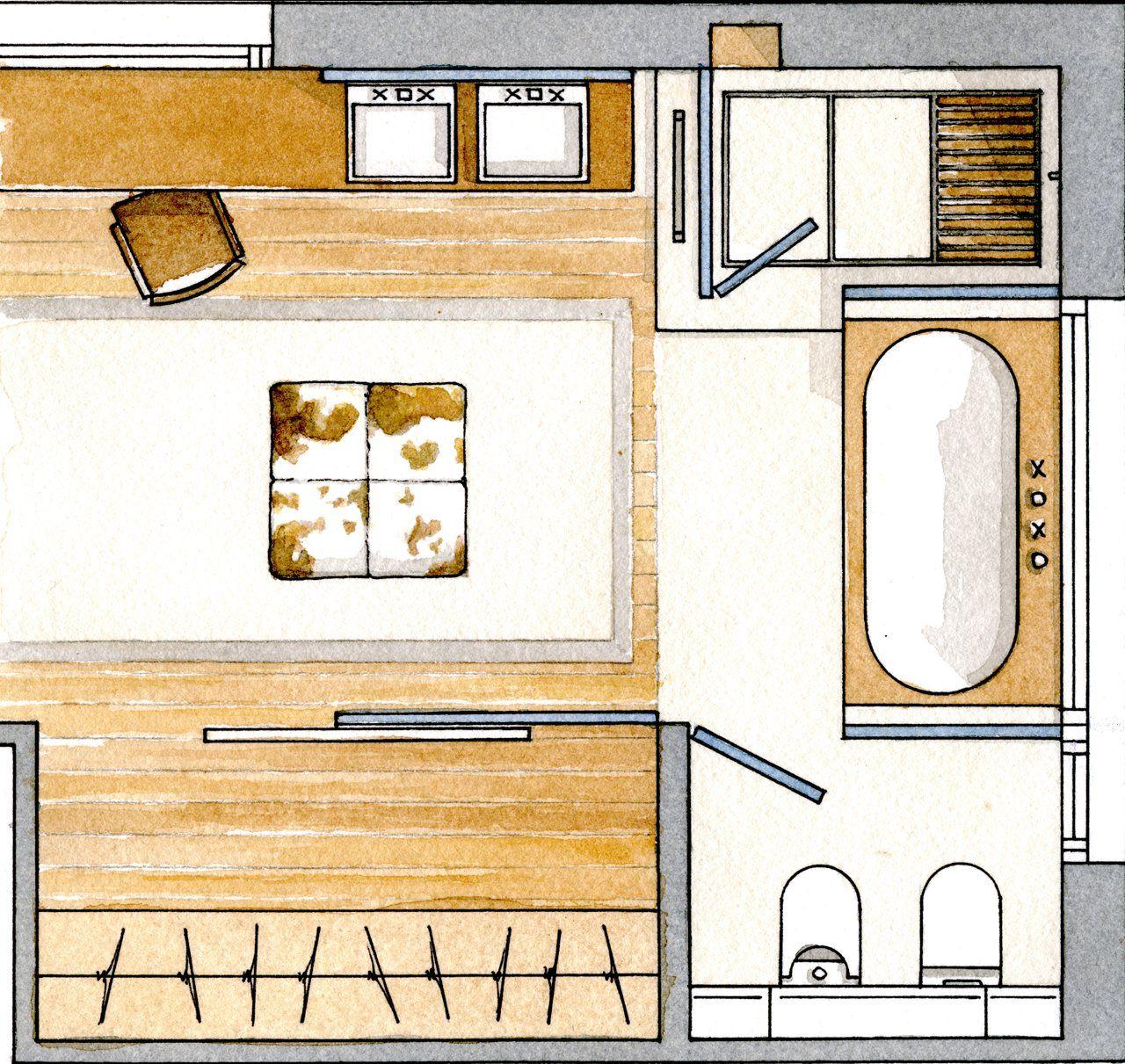 Un ba o amplio y muy vers til con vestidor for Planos de banos