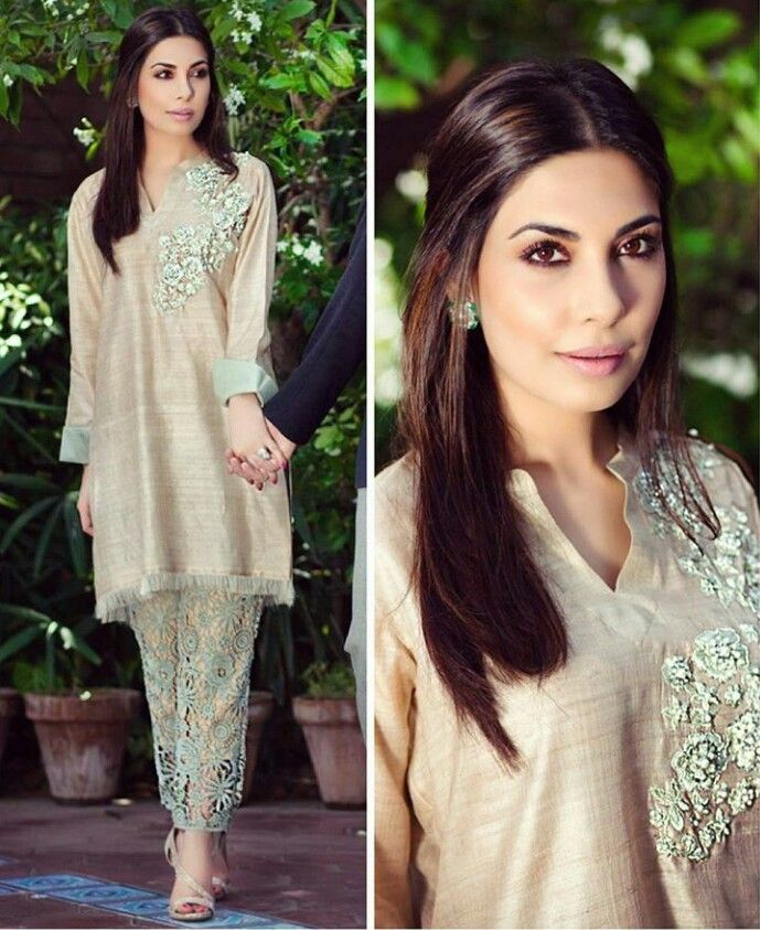 afe042fdf1 Pakistani Eid ensemble by Maheen Ghani Taseer (MGT). | Formal ...