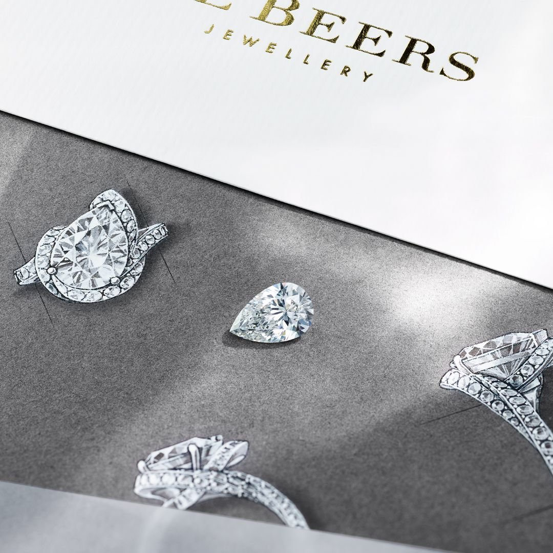 De beers bespoke diamond engagement ring jewelry pinterest