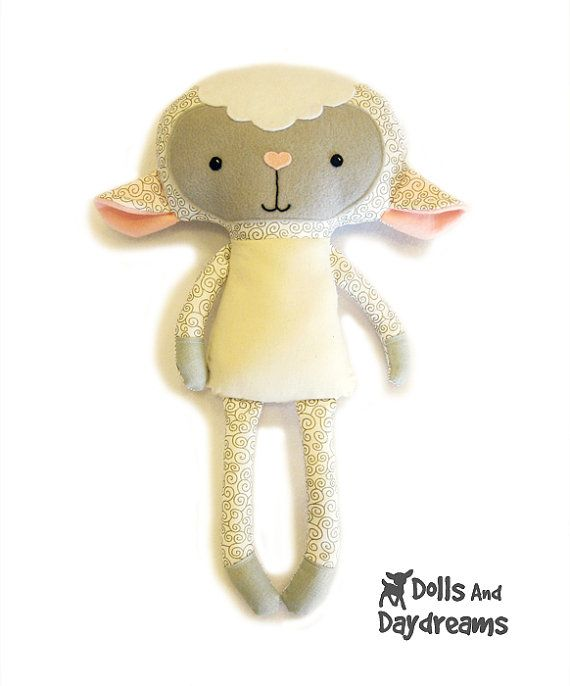 Lamb PDF Sewing Pattern Stuffed Toy Animal Sheep Softie | Sewing ...