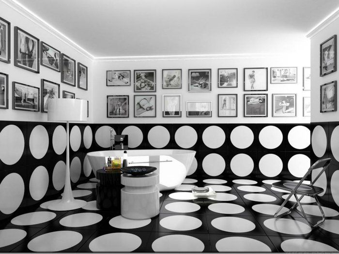 Vous cherchez des idées pour un carrelage noir et blanc? On vous les