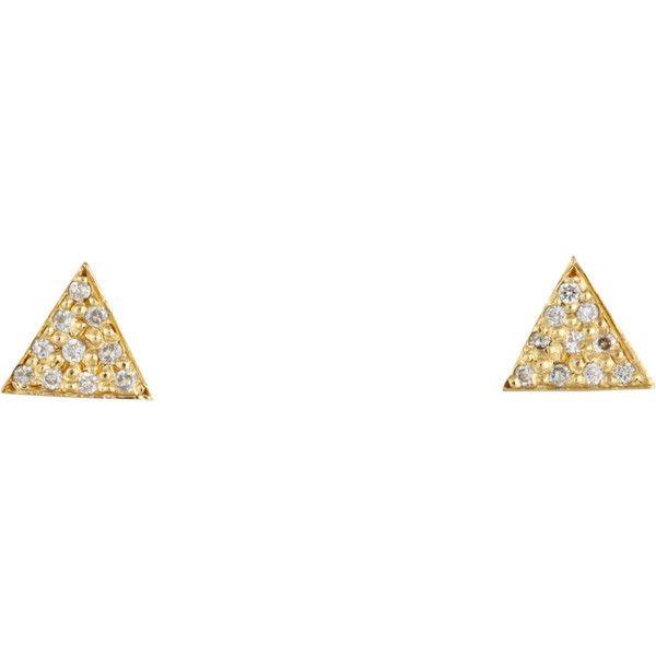 Womens Inlay Triangle Stud Earrings Jennifer Meyer ZbTq9T