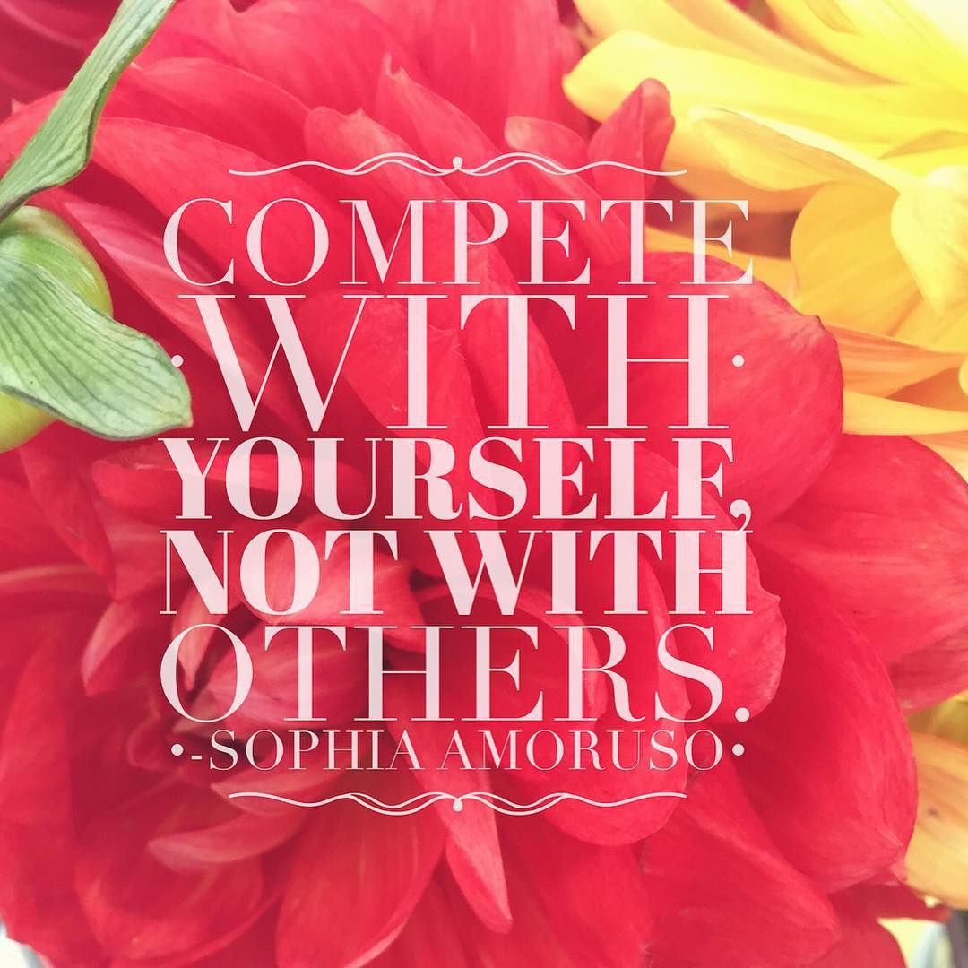 You are your only competition… #qotd #wisewords #petal_perfection #floral_perfection