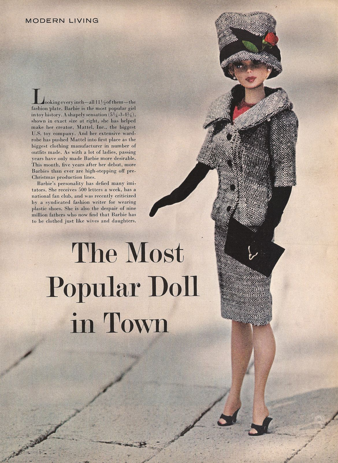 Barbie: The Most Popular Doll in Town ~LIFE, August 23, 1963