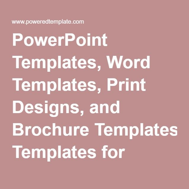 PowerPoint Templates, Word Templates, Print Designs, and Brochure - brochure templates in word