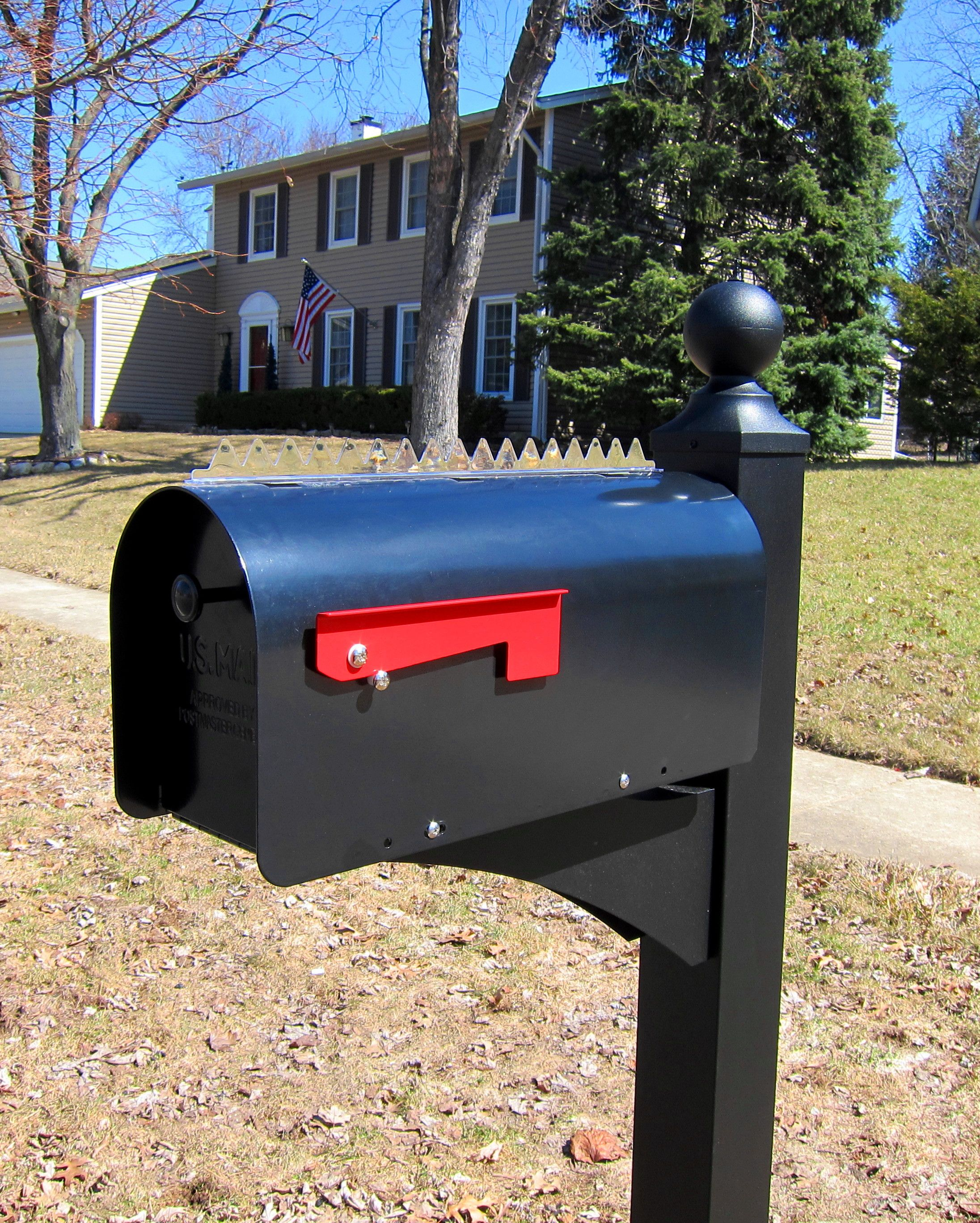 Pin On Mailbox Post Keep Bird Poop Droppings Off
