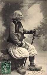 14 Postcard Plogonnec, Type de Vieux Breton, alter Mann in bretonischer Tracht