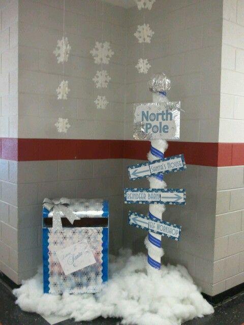 Christmas Post Box Santa Mail Box North Pole Express Indoor//Outdoor Practica#xq
