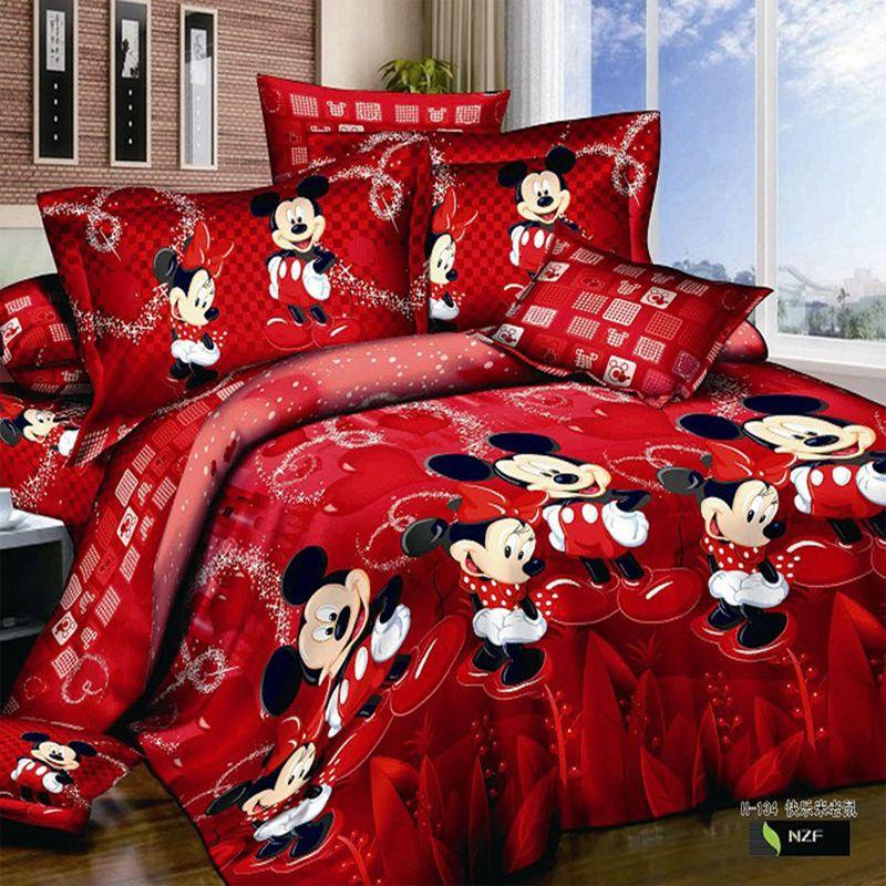 Hot 4 pcs 3d cama jogo de cama jogos para crian as cartoon - Cama king size ikea ...