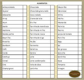 lista de compras de supermercado