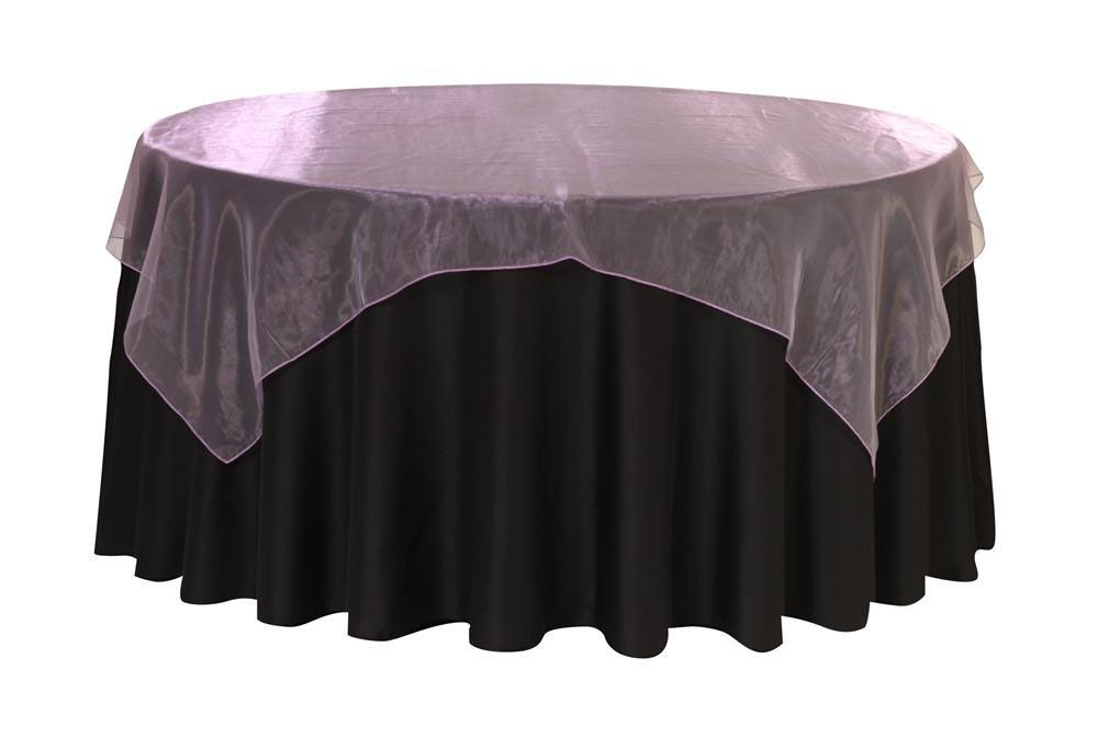 90 Inch Square Organza Table Overlay Lavender Table Overlays