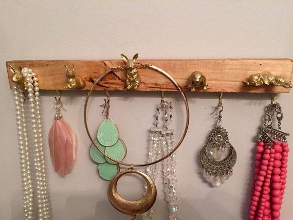 Jewelry necklace and bracelet hanger and por 10kiaatstreet en Etsy
