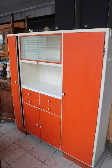 Mobile credenza dispensa da cucina anni 50 60 vetri molati ...