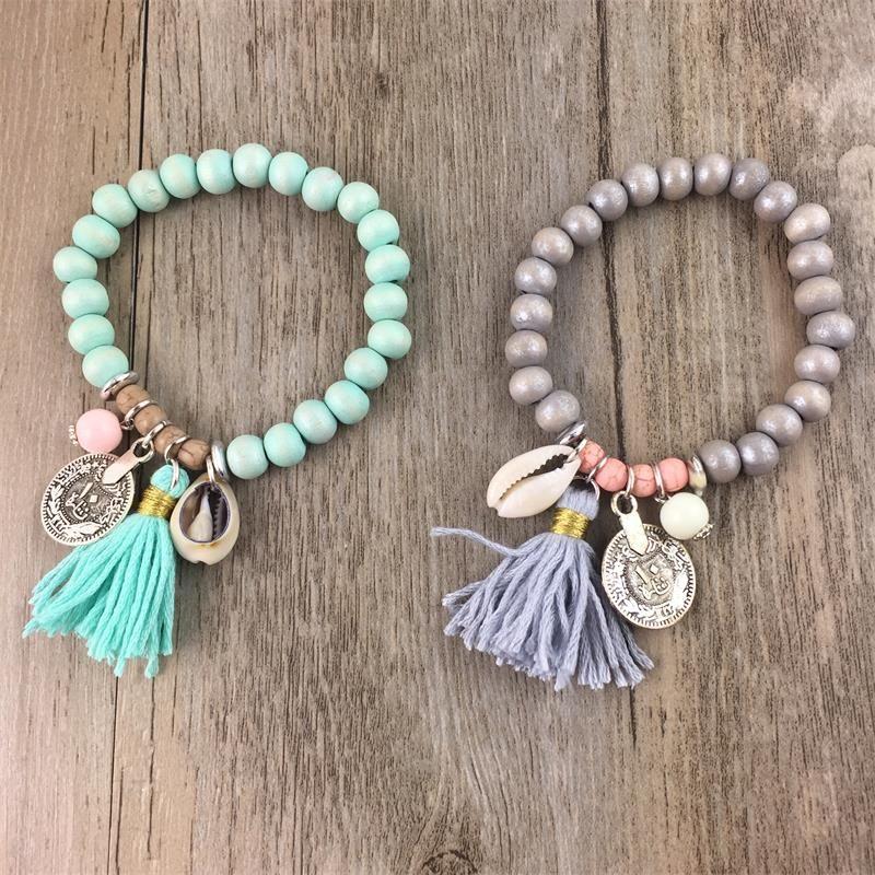 US $8.99 |Fashionable BOHO Decoration Bracelet For Girl Six Color Hot Selling Bracelet For Summer Party Special Accessory|bracelet anklet|bracelet plasticbracelet form – AliExpress
