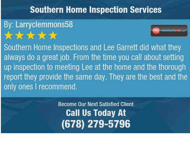 Southern Home Inspections And Lee Garrett Did What They Always Do