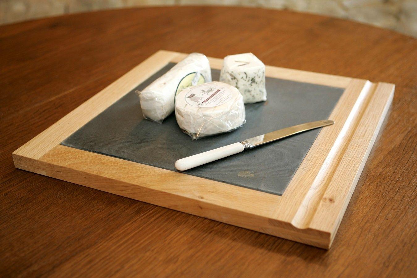 Solid Oak and slate cheese board
