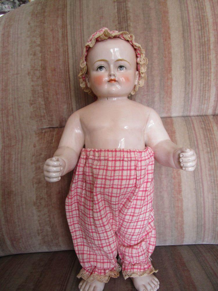 Details zu alte antike Puppe Porzellanpuppe Nacktfrosch Frozen ...