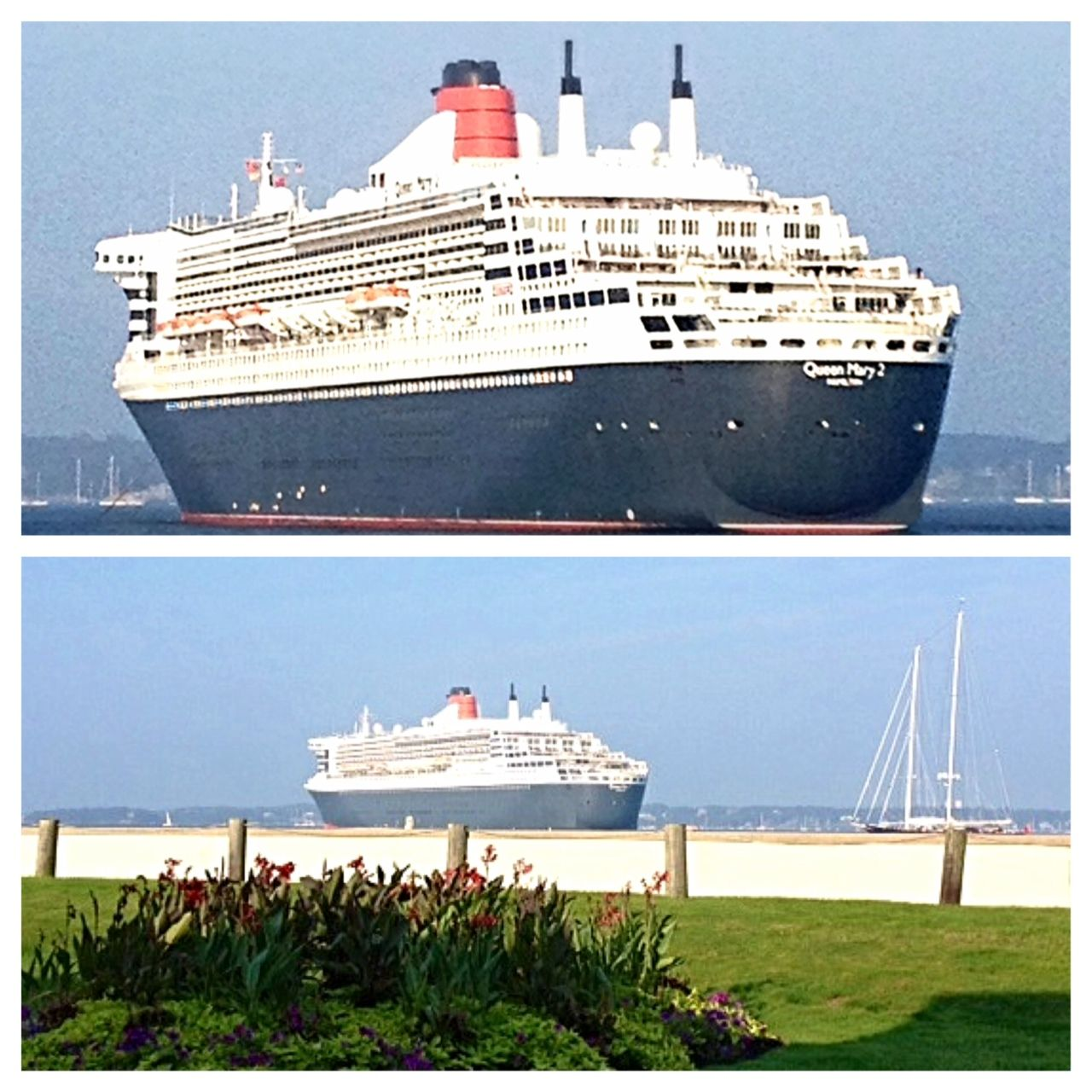Queen Mary 2 in the harbor 9/11/13