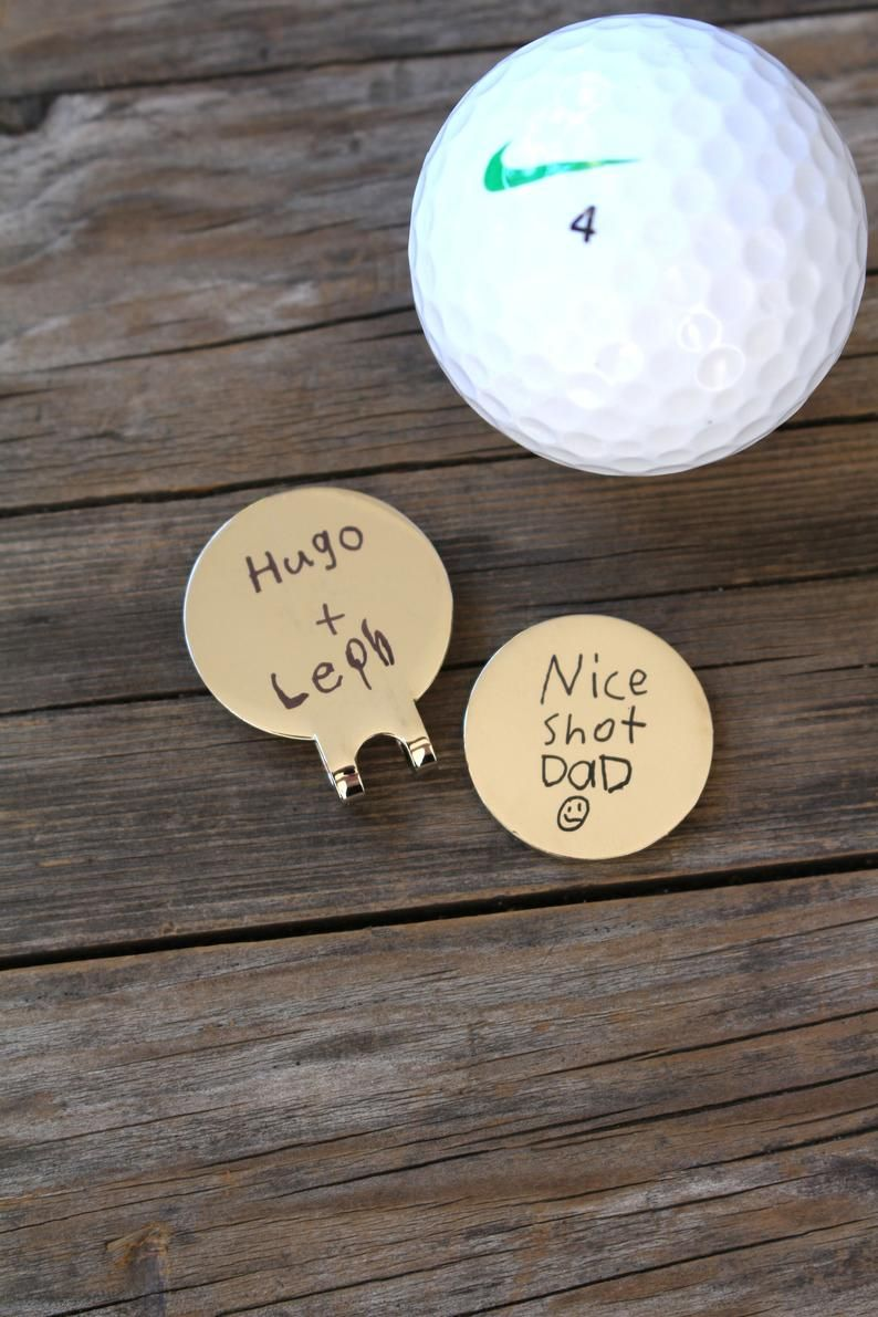 Golf Ball Marker Hat Clip Personalized With Custom Handwriting Etsy Ball Markers Golf Ball Markers Personalized Word Art