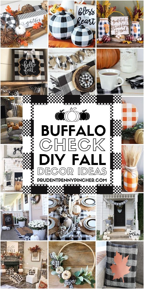 30 Buffalo Check DIY Fall Decor Ideas
