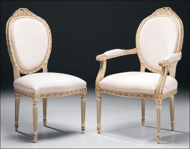 Sometimes called medallion chairs these are Louis XVI
