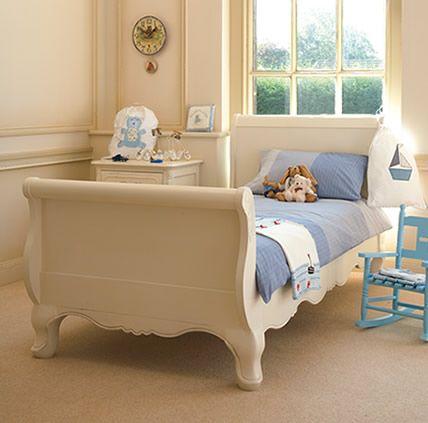 Cream single sleigh bed for a little girls room. Cream single sleigh bed for a little girls room   Baby   Pinterest