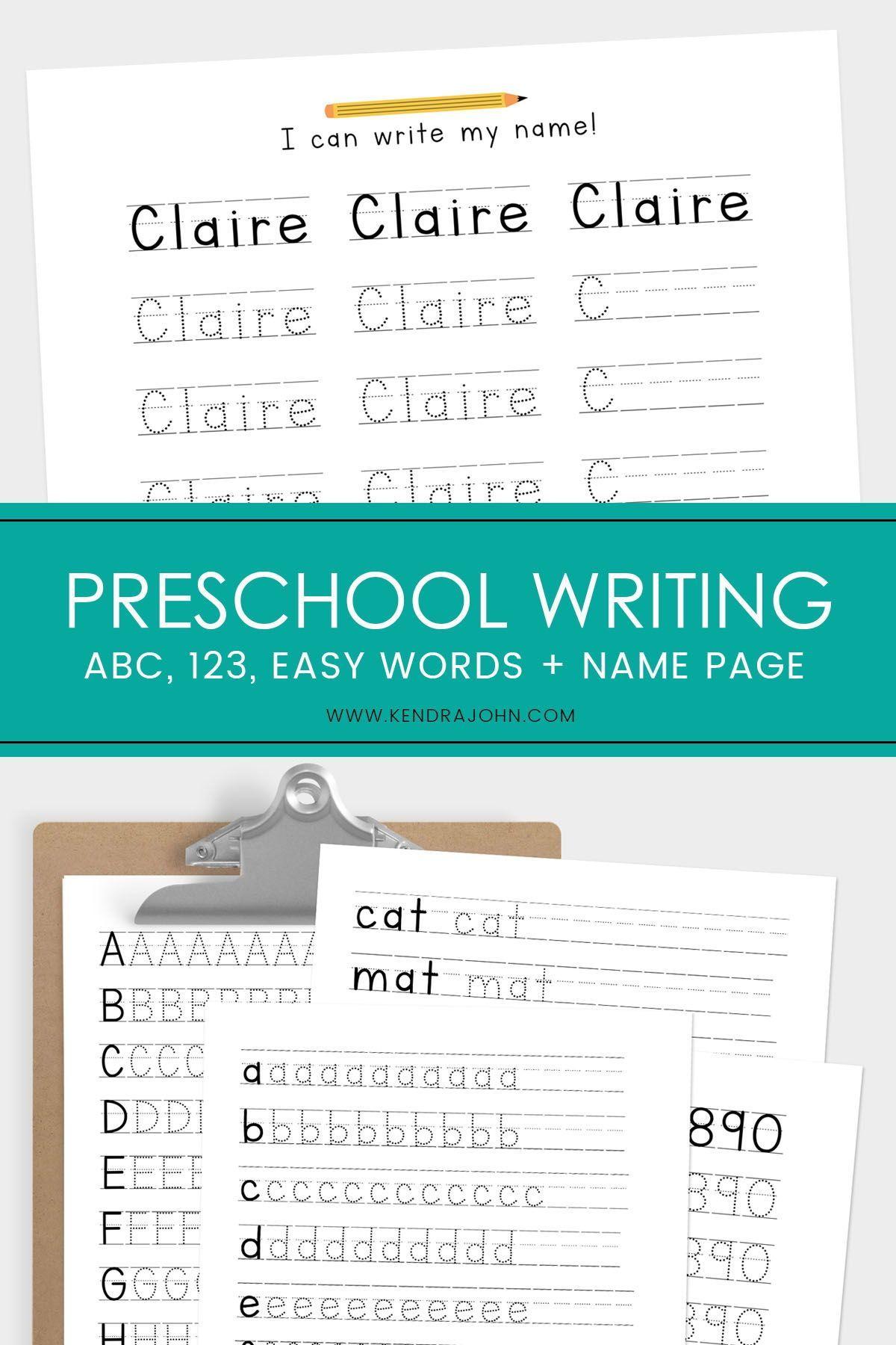 Writing Practice For Preschoolers Name Tracing Worksheet